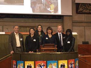 4 élèves de BTS avec M. Marquet et Mme Kemmas le 13 octobre au Palais de Iéna.